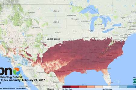 The U S  Geological Survey hails an early spring   and ties it to     Keep going for a look at the record setting weather days in Texas