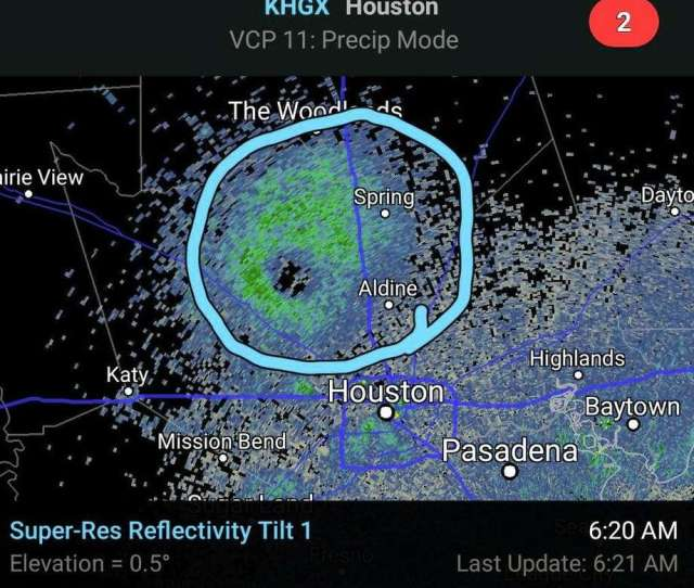 These Khgx Radar Images Posted On Facebook By The National Weather Service On July