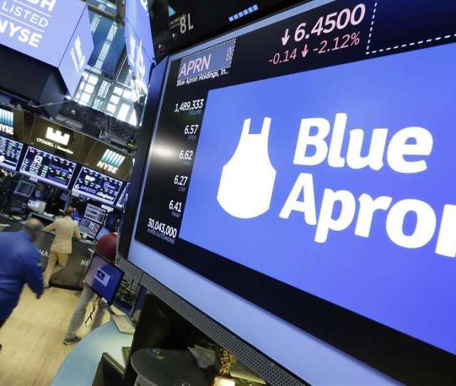 File In This July 18 2017 File Photo The Blue Apron Logo
