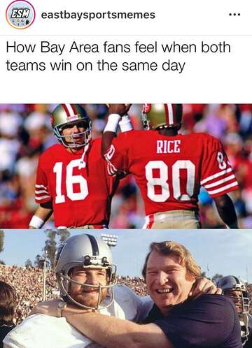 49ers Raiders Fans Celebrate Upset Wins With Memes Sfchronicle Com