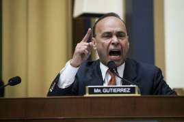 Rep. Luis Gutiérrez. D-Ill., questions Homeland Security Secretary Kirstjen Nielsen as she testifies before the House Judiciary Committee Dec. 20, 2018. The congressman could have benefitted from getting manners for Christmas. Photo: SARAH SILBIGER /NYT / NYTNS