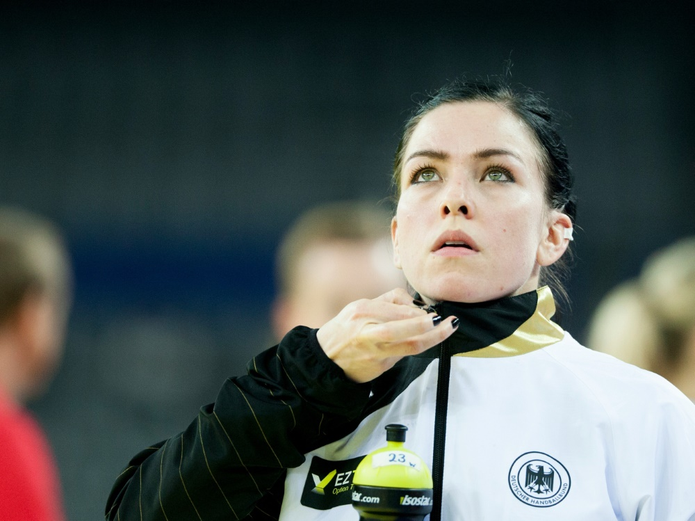 kurz vor wm handballerin huber tritt