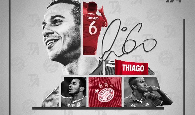 Thiago said goodbye to FC Bayern Munich