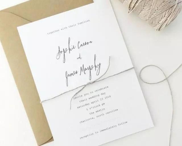 12 Inspirasi Desain Undangan Pernikahan Yang Kekinian Minimalis Dan