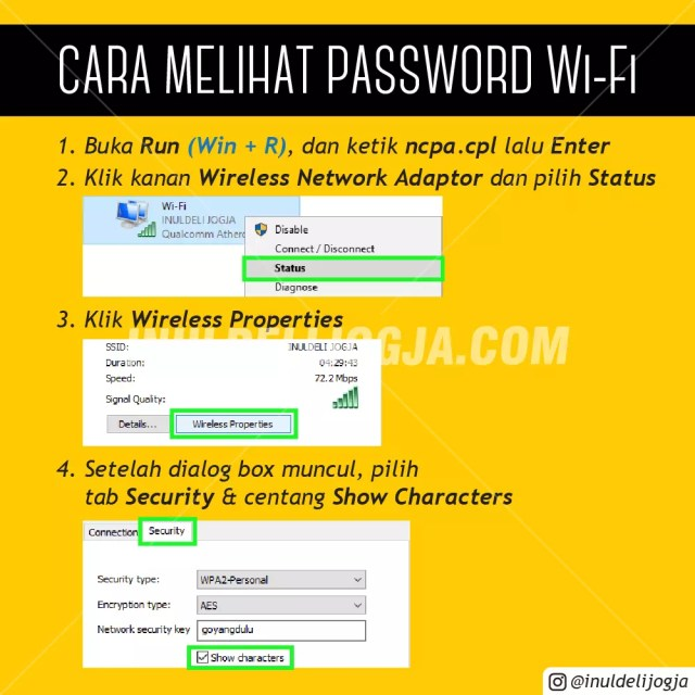 CARA MELIHAT PASSWORD WI-FI