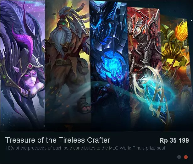 Terjual Jual New Treasure Dota 2 New Set Dota 2 Arcana