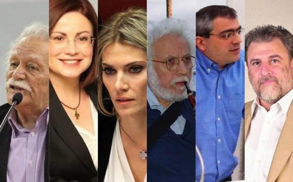 Μανώλης Γλέζος (ΣΥΡΙΖΑ), Μαρία Σπυράκη (ΝΔ), Εύα Καϊλή (ΕΛΙΑ), Γιώργος Γραμματικάκης (ΠΟΤΑΜΙ) , Κώστας Παπαδάκης (ΚΚΕ) και Νότης Μαριάς (ΑΝΕΛ)