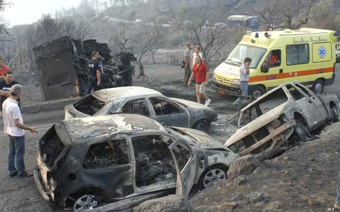 Image result for νεκροι πυρκαγιας ηλεια
