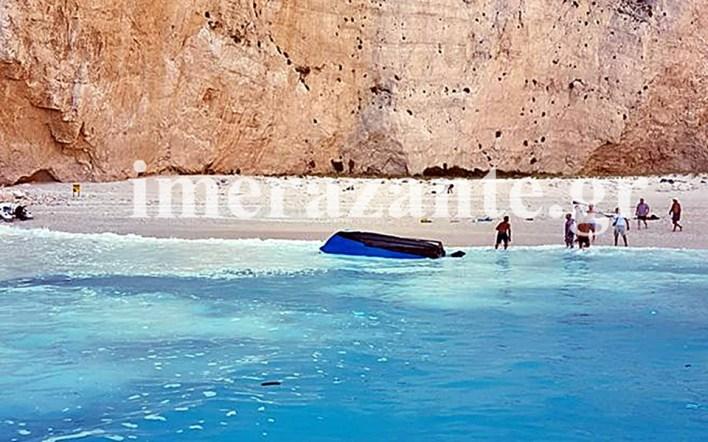 Κατολίσθηση βράχων στην παραλία «Ναυάγιο» - φόβοι για τρεις αγνοούμενους, μια τραυματίας