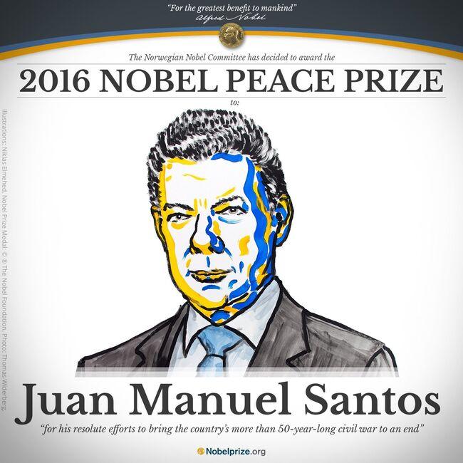 Resultado de imagen para santos premio nobel de la paz