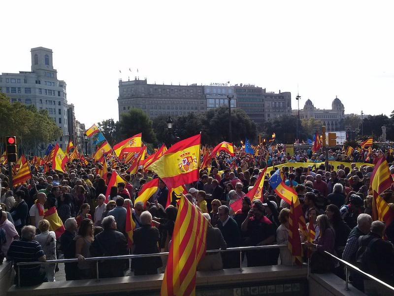 La Plaza de Cataluña vista desde El Corte Inglés