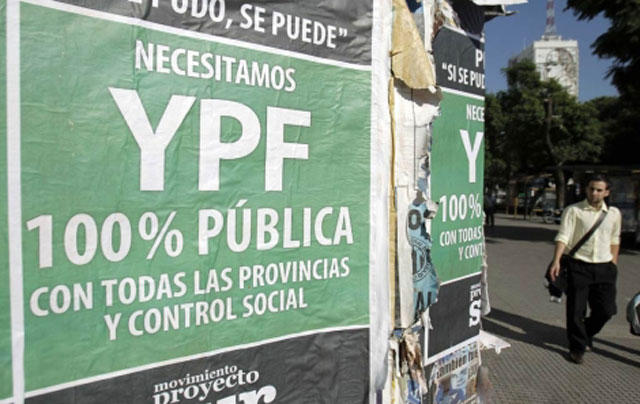 Argentina, petróleo, 2012