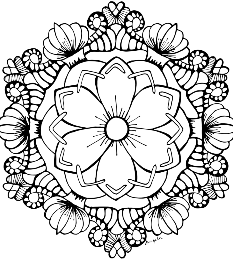 Free Adult Coloring Pages Picture Of August Flower Garden Page
