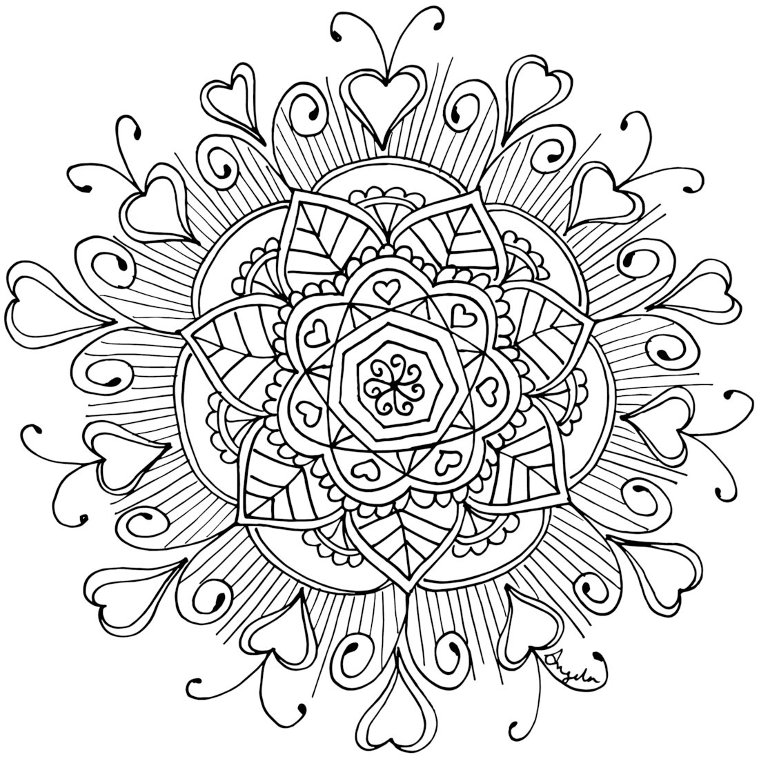 Starry Eyes Coloring Page