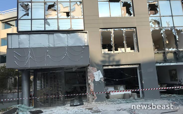 Νέες εικόνες από το κατάστημα που σημειώθηκε έκρηξη στην Κηφισίας