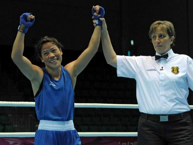 Asian Games Boxing  MC Mary Kom Enters Final  L Sarita Devi Robbed     Asian Games Boxing  MC Mary Kom Enters Final  L Sarita Devi Robbed of Win