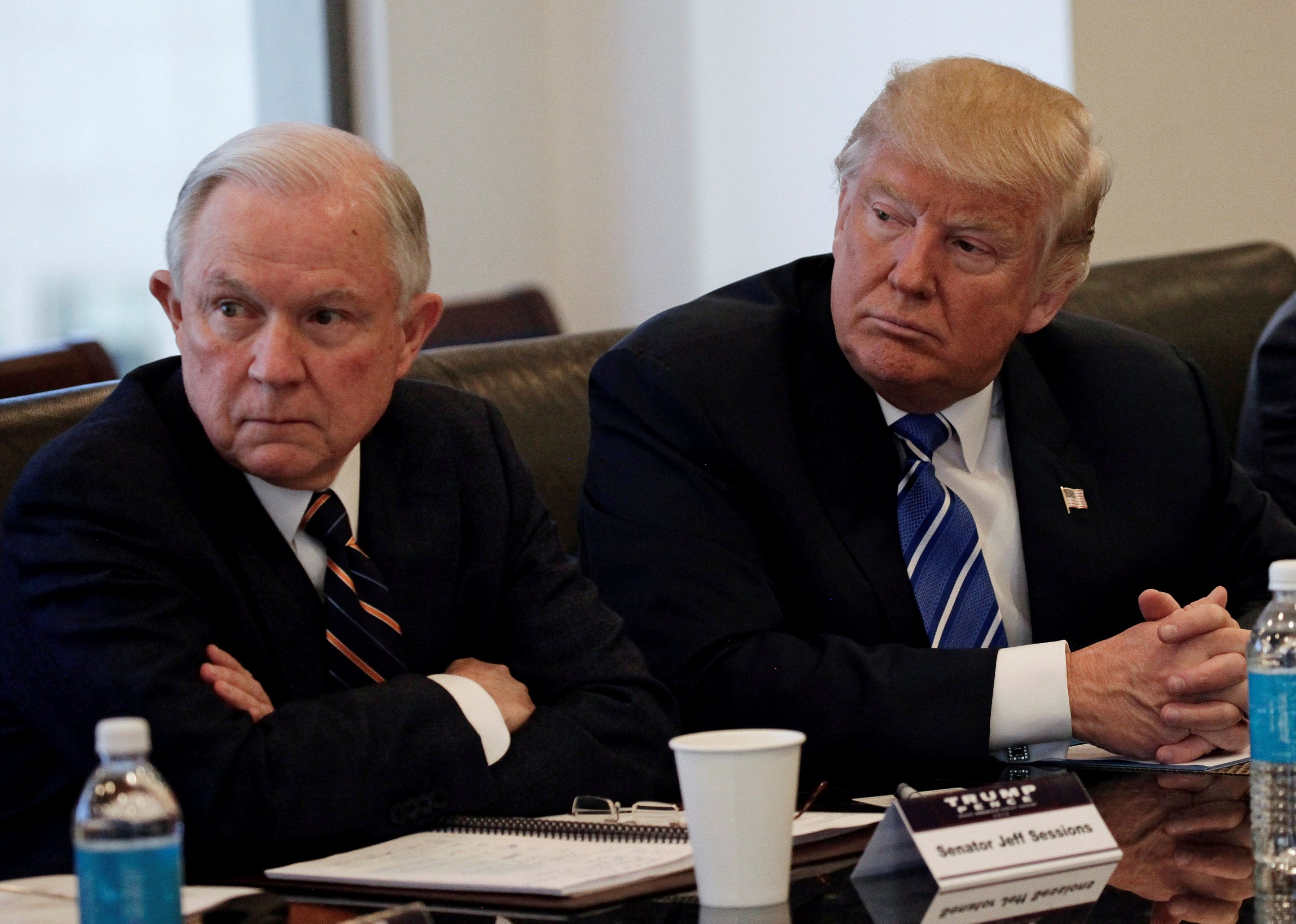 Image result for photos of sessions and trump