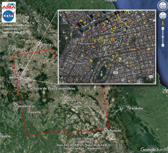 NASA Satellite Maps May Help Mexico Recover From Multiple Earthquakes 09 23 Mexico City NASA map