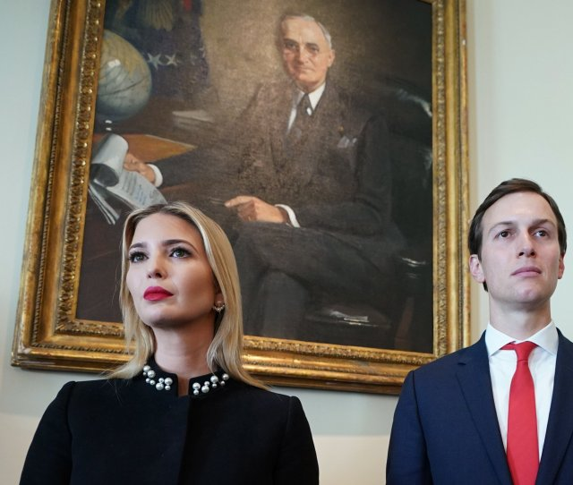 Ivanka Trump And Jared Kushner Attend A Cabinet Meeting In The Cabinet Room Of The White House On March 8 2018 In Washington Dc