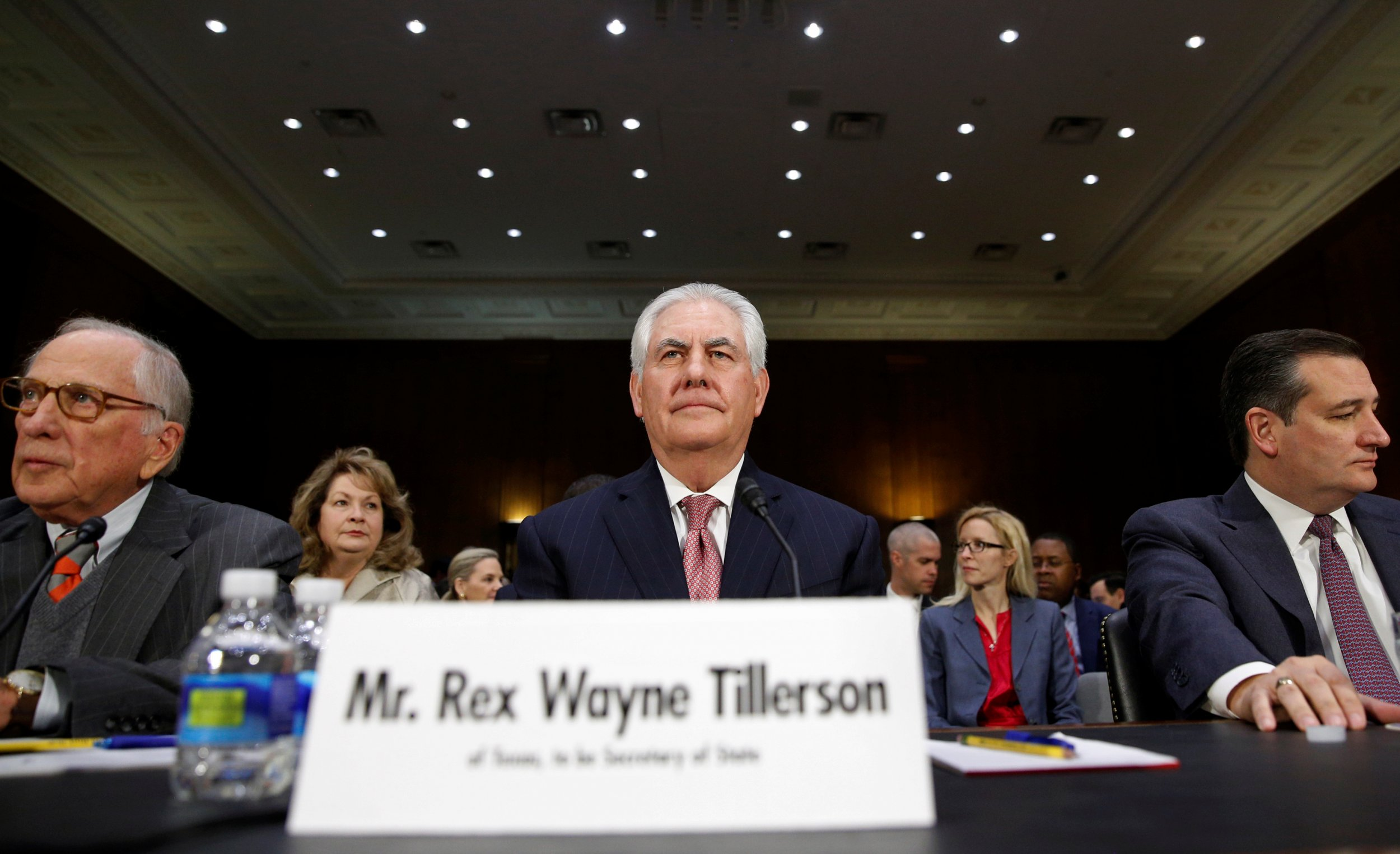 Image result for photos of rex tillerson with state employees