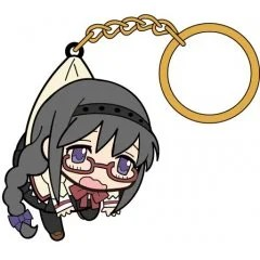 PUELLA MAGI MADOKA MAGICA THE MOVIE PART 3 REBELLION TSUMAMARE KEY RING: AKEMI HOMURA SCHOOL UNIFORM VER. (RE-RUN) Cospa