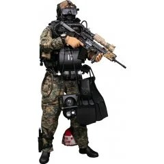 Damtoys 1/6 Scale Figure: Marine Force Recon Combat Diver Woodland Marpat Ver. - Damtoys