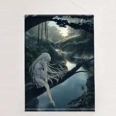 SUMMER POCKETS B2 WALL SCROLL: NARUSE SHIROHA (RE-RUN) Curtain Damashii