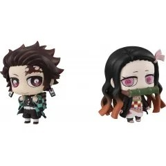 CHIMI MEGA BUDDY SERIES NO. 006 DEMON SLAYER KIMETSU NO YAIBA: TANJIROU KAMADO & NEZUKO NAKAYOSHI KYOUDAI SET (RE-RUN) Mega House