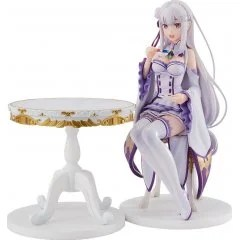 KD COLLE RE:ZERO -STARTING LIFE IN ANOTHER WORLD- 1/7 SCALE PRE-PAINTED FIGURE: EMILIA TEA PARTY VER. Kadokawa Shoten