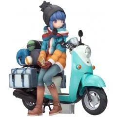 YURU CAMP 1/10 SCALE PRE-PAINTED FIGURE: RIN SHIMA WITH SCOOTER Alter