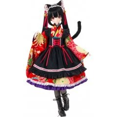 BLACK RAVEN SERIES 1/3 SCALE FASHION DOLL: LILIA / -TAISHO ROMAN- BLACK CAT Azone