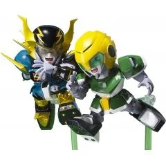 CHOGOKIN IRON LEAGUER: MACH WINDY AND GOLD FOOT Tamashii (Bandai Toys)