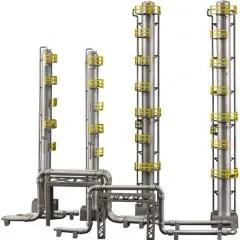 INDUSTRIAL AREA B PLASTIC MODEL: DISTILLATION TOWER Plum