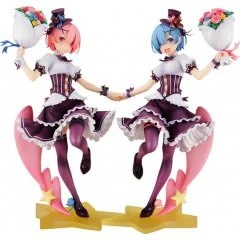 KD COLLE RE:ZERO -STARTING LIFE IN ANOTHER WORLD- 1/7 SCALE PRE-PAINTED FIGURE: RAM & REM BIRTHDAY VER. COMPLETE SET [GSC ONLINE SHOP EXCLUSIVE VER.] Kadokawa Shoten