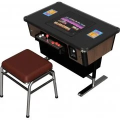 1/12 SCALE PLASTIC MODEL KIT: ARCADE VIDEO GAME MACHINE TABLE CABINET Helmets