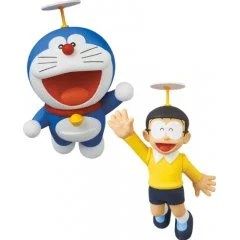 ULTRA DETAIL FIGURE NO. 575 FUJIKO F FUJIO WORKS SERIES 15 DORAEMON: DORAEMON & NOBITA (TAKECOPTER) Medicom