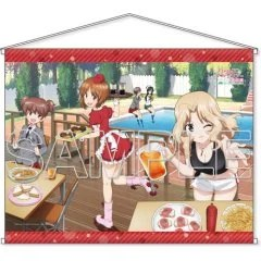 GIRLS UND PANZER B2 WALL SCROLL: SAUNDERS UNIVERSITY HIGH SCHOOL PARTY TIME VER. Kadokawa Shoten