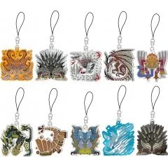 MONSTER HUNTER WORLD: ICEBORNE MONSTER ICON STAINED GLASS TYPE MASCOT COLLECTION VOL. 4 (SET OF 10 PIECES) Capcom