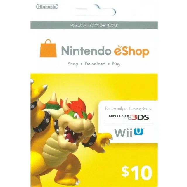 Nintendo EShop 10 USD Card US Digital
