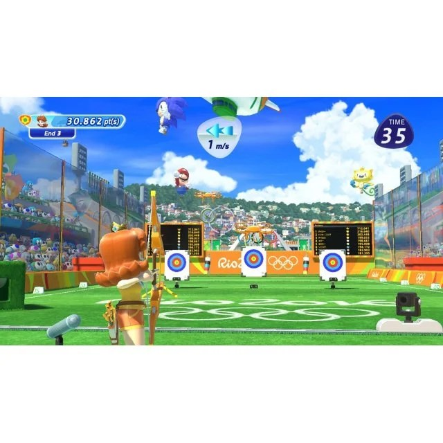Mario   Sonic at the Rio 2016 Olympic Games  Wii Remote Control Plus     Mario   Sonic at the Rio 2016 Olympic Games  Wii Remote Control Plus Set    Red   White