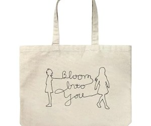BLOOM INTO YOU LARGE TOTE BAG NATURAL