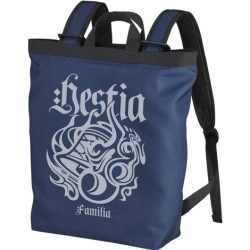 IS IT WRONG TO TRY TO PICK UP GIRLS IN A DUNGEON? II - HESTIA FAMILIA EMBLEM 2WAY BACKPACK NAVY