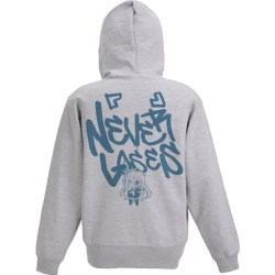 NO GAME NO LIFE - NEVER LOSES ZIPPERED HOODIE MIX GRAY (M SIZE)