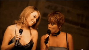 Mariah Carey et Whitney Houston en 1998