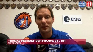 French astronaut Thomas Pesquet counts the days for the ISS mission