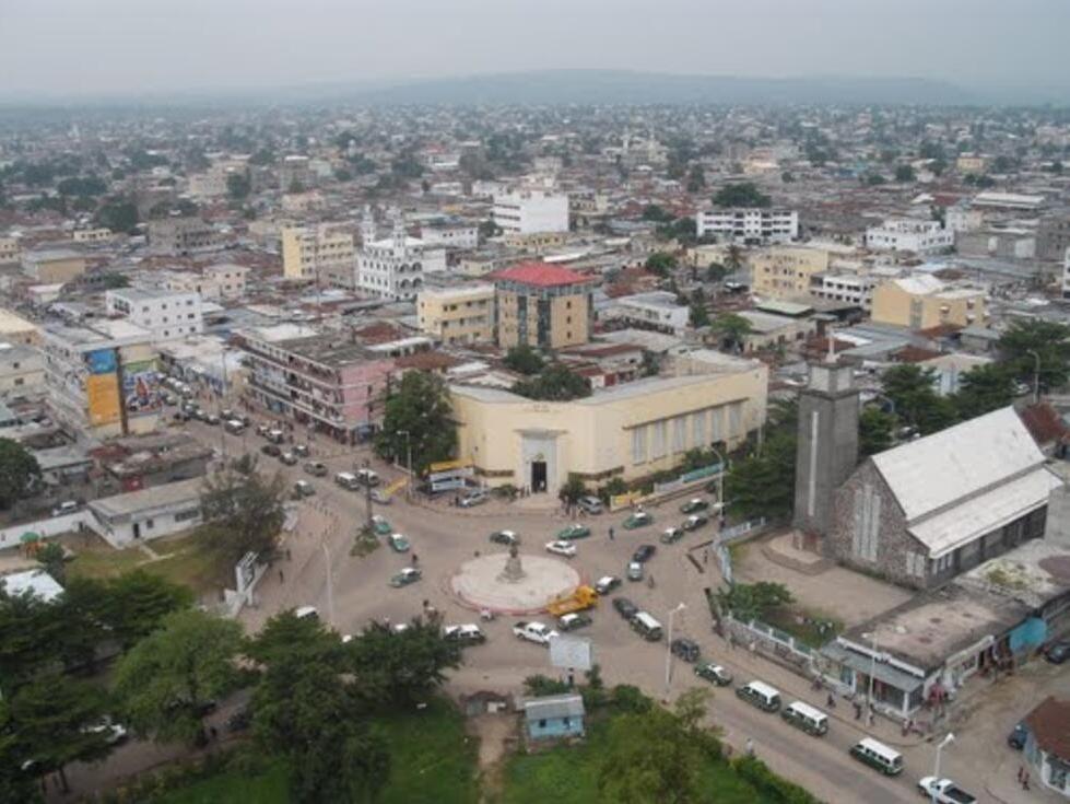 Vue de Brazzaville, capitale du Congo.