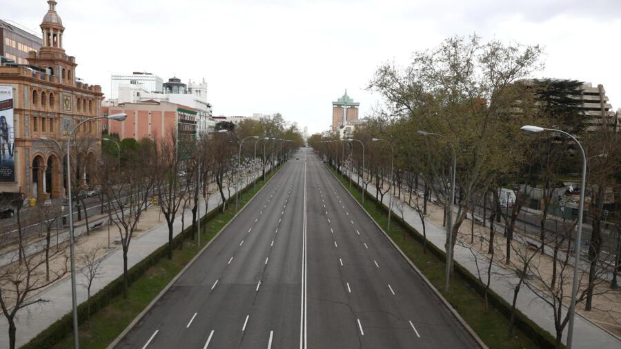 Thủ đô Madrid, Tây Ban Nha vắng lặng trong đại dịch Covid-19, ngày 24/03/2020.