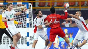 During the Algeria-Morocco match, in the 2021 World Handball Championship.