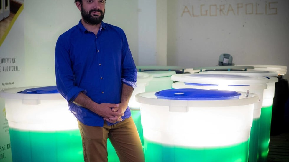 Gabriel Riboulet, dirigeant d'Origine bleue et Spira, mise beaucoup sur la spiruline fraîche.