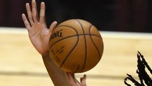 Basketball ball during the game between the Charlotte Hornets and the Miami Heat on February 1, 2021. (Illustrative image)